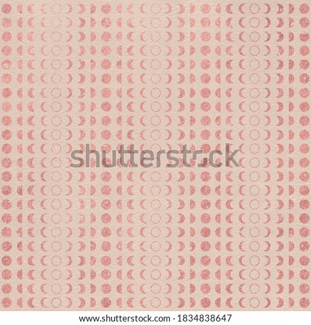 Metallic Rose Gold Pattern on Leather Texture Background, Digital Paper