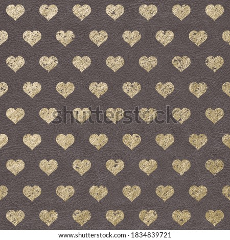 Metallic Champagne Gold Pattern on Leather Texture Background, Digital Paper