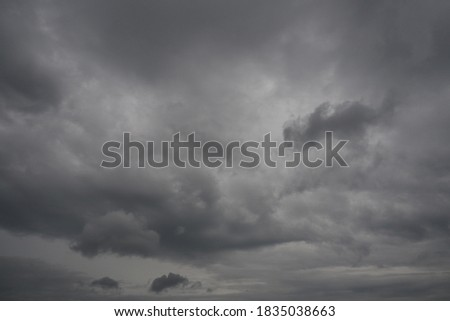 Rainstorm on cloudy day Landscape picture of the sky is overcast, a storm, the rain is about to fall.