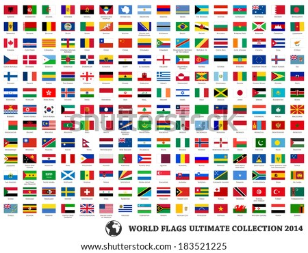 Flags vector of the world #183521225