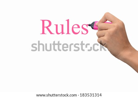 Business hand writing Rules concept  #183531314