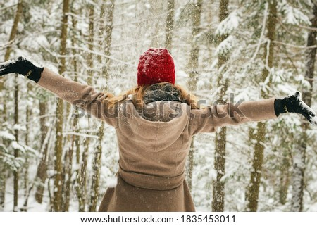 Winter with a cool natural atmosphere