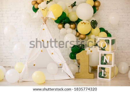 Decor for first bitrhday wild one Royalty-Free Stock Photo #1835774320
