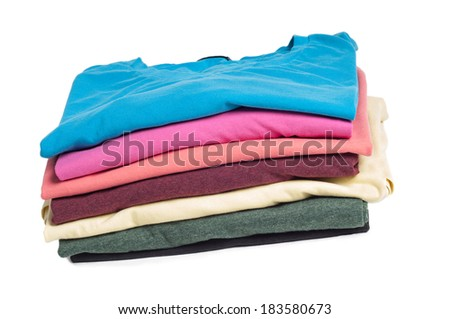 Multicolored clothes in pile #183580673