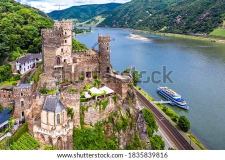 Rheinstein Castle, Trechtingshausen, Unesco World Heritage Site Upper Middle Rhine Valley, Rhineland-Palatinate, Germany Royalty-Free Stock Photo #1835839816