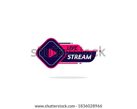 Live Stream Logo. Element for broadcasting or online tv live streaming. Video stream icons. Royalty-Free Stock Photo #1836028966