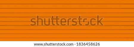 Panorama of brown Corrugated metal background and texture surface or galvanize steel