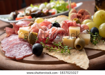 Platter of typical italian foods  #1837021027