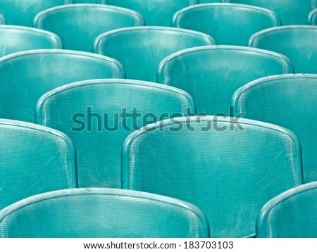 Abstract composition, background and texture from backrest of the seats and seats outdoors #183703103