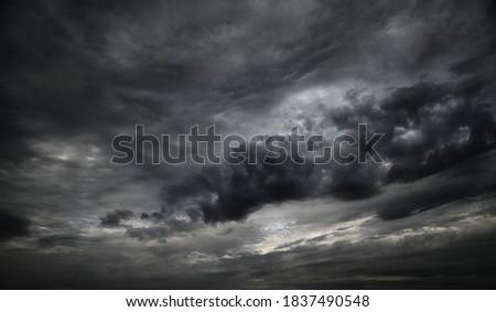 beautiful dark dramatic sky with stormy clouds