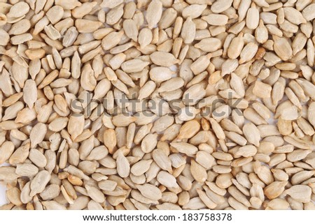 Peeled sunflower seeds. To be used as background. #183758378