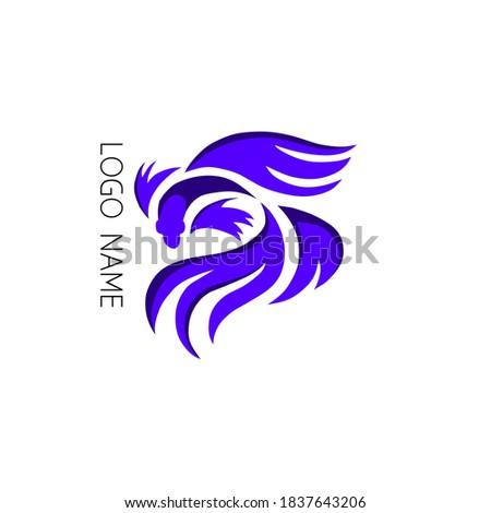 illustration Betta fish community logo