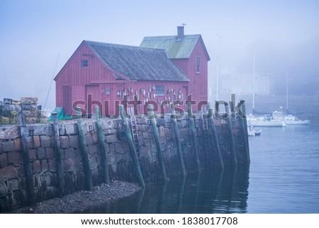 USA, Massachusetts, Cape Ann, Rockport. Rockport Harbor, Motif Number One, famous fishing shack Royalty-Free Stock Photo #1838017708