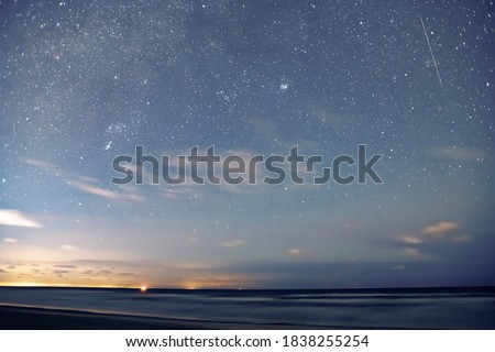 Starry night by the Baltic Sea.