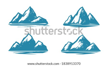 Mountain symbol. Mountaineering, climbing vector illustration