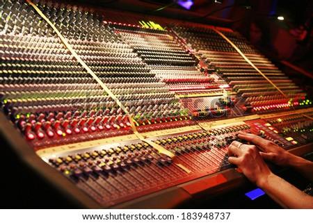 Detail of a mixer.