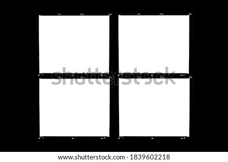 Medium format color film frame.With white space. Royalty-Free Stock Photo #1839602218