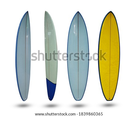 Correction surf Surfboard isolated on white background. This has clipping path.