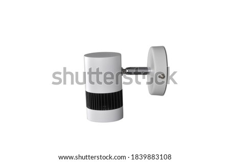 Modern white Picture wall lamp on white background