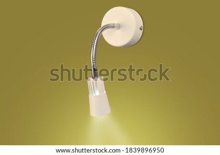 Modern Picture wall lamp on green background
