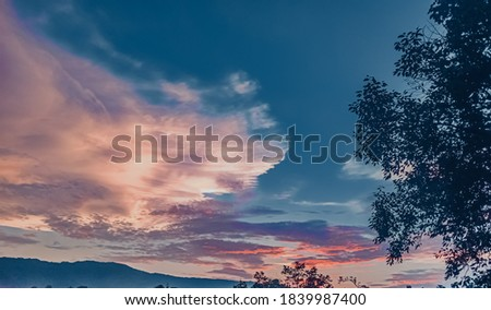 evening picture of sky and clouds in mandi himachal pradesh India