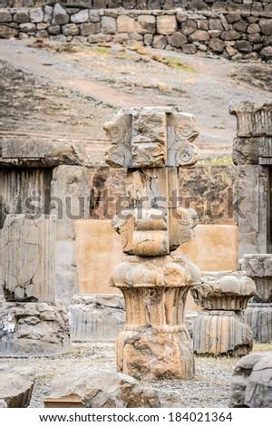 Ancient ruins of Persepolis, the ceremonial capital of the Achaemenid Empire. UNESCO World Heritage #184021364