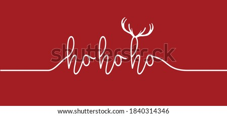 Saying ho ho ho, Merry Christmas text. Hohoho pattern, Santa Claus, Christmas, xmas design. New Year concept. Slogan or quote. December, happy party. Royalty-Free Stock Photo #1840314346
