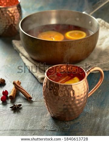 Hot Cider in Copper Mug