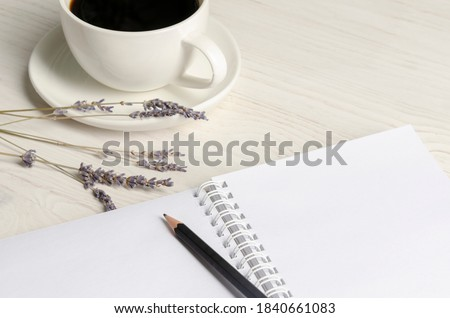 Gratitude journal with space on white wooden background Royalty-Free Stock Photo #1840661083