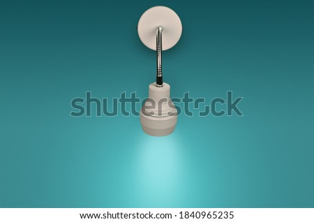 Modern Picture wall lamp on blue background