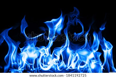 a picture of blue fire flames texture background