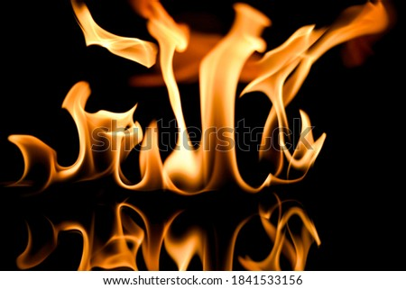 flame of fire,fire in reflections