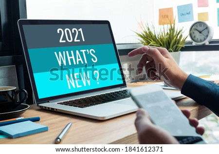 2021 what's new ? with business trend.creativity to success.technology transformation Royalty-Free Stock Photo #1841612371
