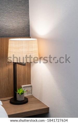 beautiful lamp decoration in bedroom in terior #1841727634