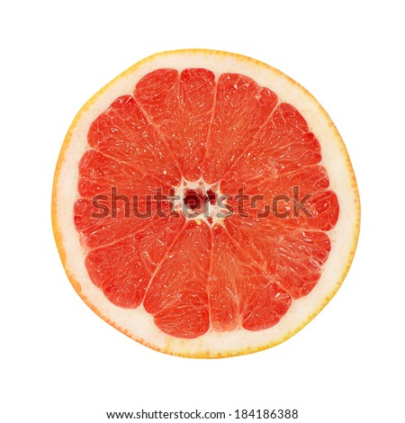 The bright grapefruit isolated on white background #184186388