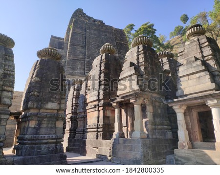 uttarakhand,india-3 june 2020:sun temple.This is a picture of sun temple in katarmal.there are only two such temple in the world.