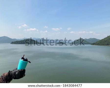 Khuean Kaeng Krachan National Park, Phetchaburi Province, Thailand, a popular tourist destination to relax, enjoy a view, drink coffee, take pictures on vacation. no focus