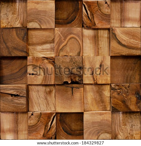 Decoration wooden blocks - paneling pattern - seamless background - Interior Design wall - Fine natural texture - Continuous replication