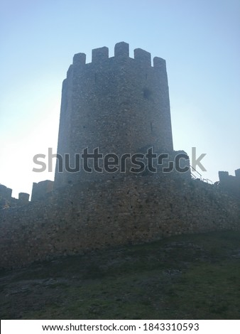 medieval castle in Platamonas Greece #1843310593