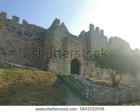 medieval castle in Platamonas Greece #1843310596