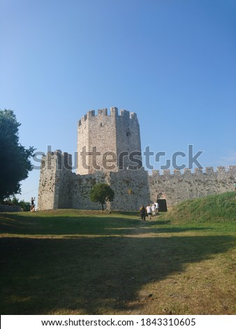 medieval castle in Platamonas Greece #1843310605