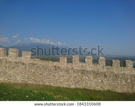 medieval castle in Platamonas Greece #1843310608