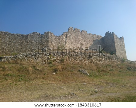 medieval castle in Platamonas Greece #1843310617