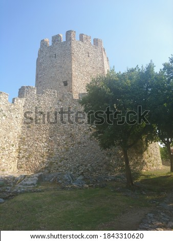 medieval castle in Platamonas Greece #1843310620