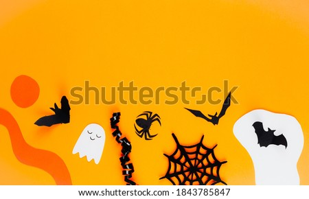 Different types of insects image on a yellow background.