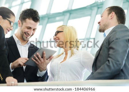 Young business people having conversation #184406966