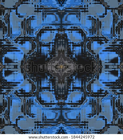 abstract blurry digital fantasy in blue #1844245972