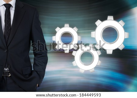 Businessman and gear #184449593