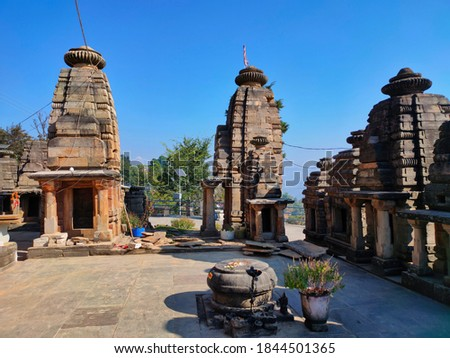 uttarakhand,india-3 may 2020:sun temple. this is a picture of sun temple katarmal.there are only two sun temple in the world.