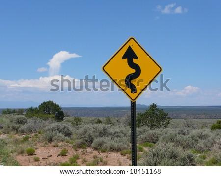 Warning road sign #18451168